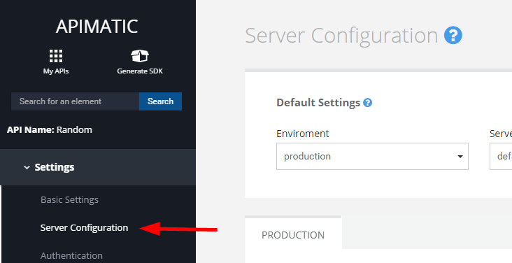screenshot server configuration