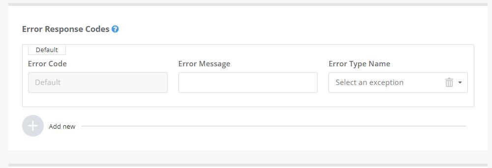 Error Response Codes
